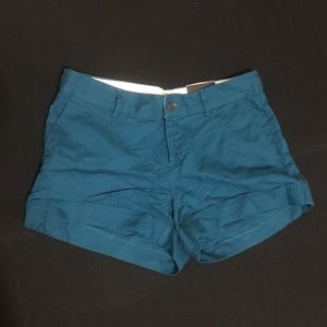 Martin Fit Teal Banda Republic Linen Shorts
